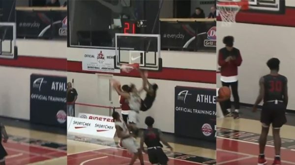 14 Year Old Canadian Basketball Phenom Elijah Fisher Destroys Defender