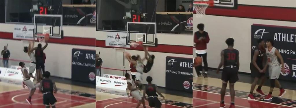 14 Year Old Canadian Basketball Phenom Elijah Fisher Destroys Defender