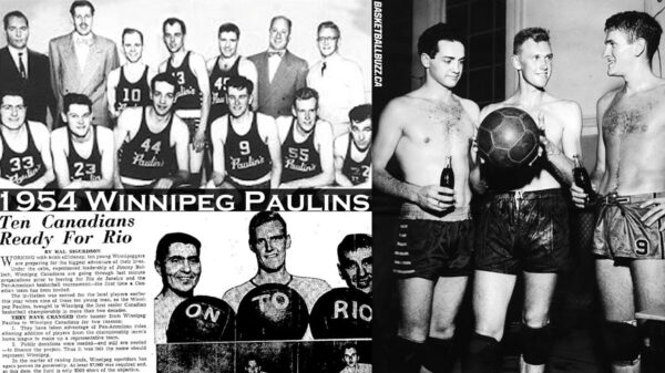 1954 Winnipeg Cagers on the World stage