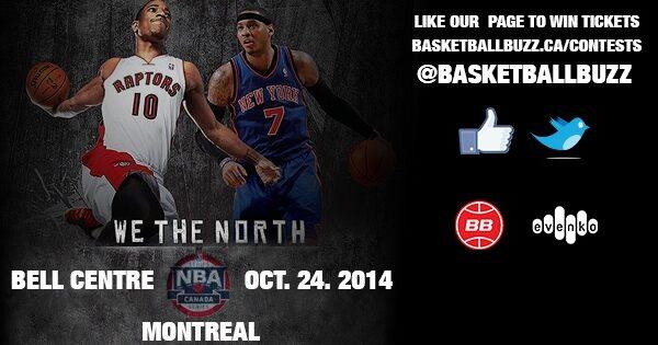 2014 NBA Canada Series Win Tickets To Toronto Raptors Vs New York Knicks In Montreal