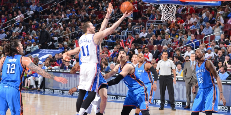 76ers Nik Stauskas Career-High 23 Points vs OKC Thunder