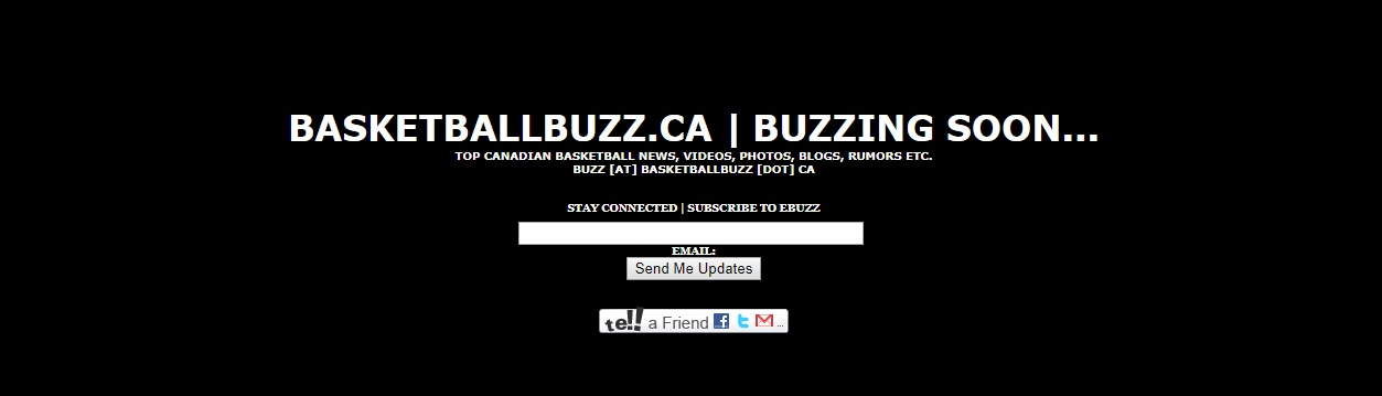 BasketballBuzz.ca 2008 Coming Soon Page