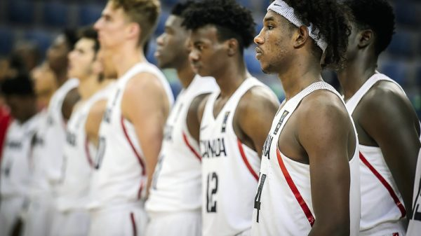 Canada Abu Kigab versus Angola FIBA U19 Championships