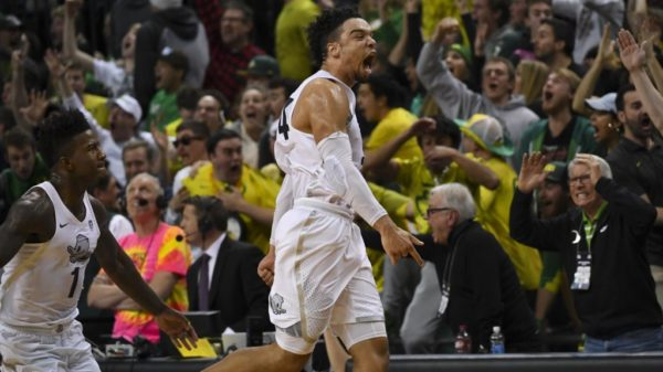 Canadian Basketball Player Dillon Brooks Game Winner Beats Ucla