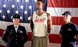The Heat Is On...Miami Honor History, Legacy & Troops With New Big-Three Jerseys