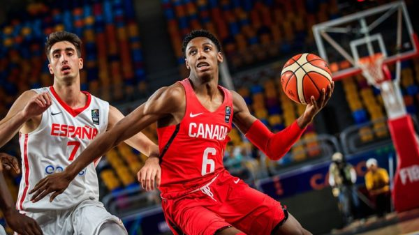 Rowan Barrett Jr Dunks On Spain 2017 FIBA U19 Championships