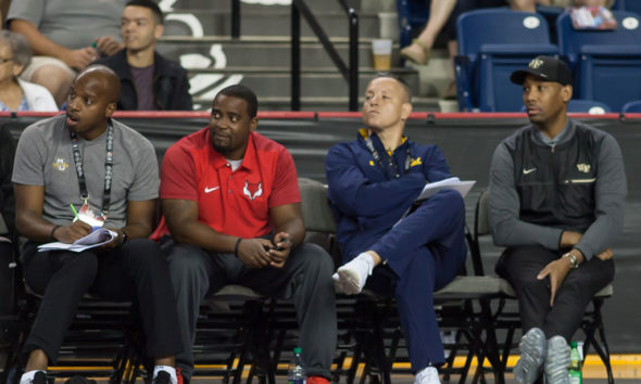 The Walking Billboards Of College Basketball Assistant Coaches Packed The Sidelines