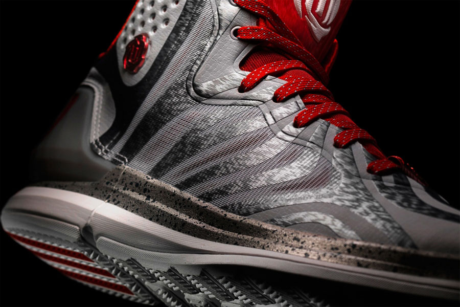 Adidas D Rose 4 5 Chicagos Finest Grey Red