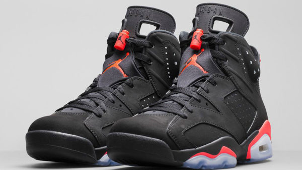 Air Jordan 6 Vi Black Infrared Front