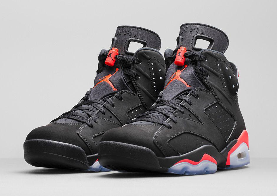 Air Jordan 6 Vi Black Infrared Front