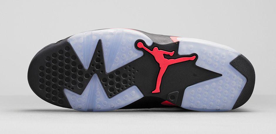 Air Jordan 6 Vi Black Infrared Sole
