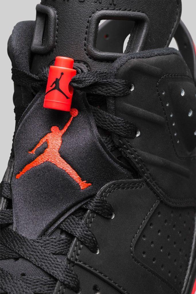 Air Jordan 6 Vi Black Infrared Tongue