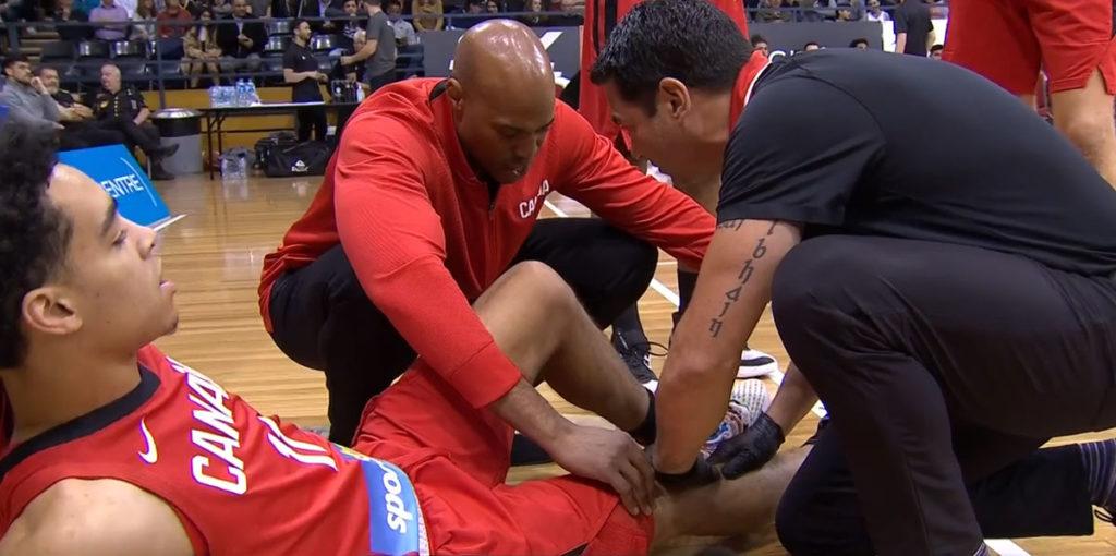 Andrew Nembhard Injury Vs New Zealand Tall Blacks
