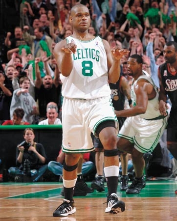 Antoine Walker Boston Celtics Shimmy