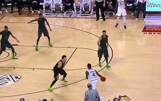 Arizona State Gerry Blakes Crossover Makes Oregon's Dillon Brooks Duck Walk