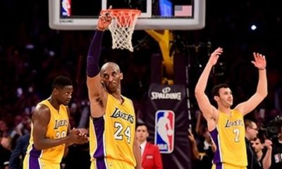 As Warriors Break 73, Kobe Hits 60, Silencing All That Jazz In His Laker Swansong