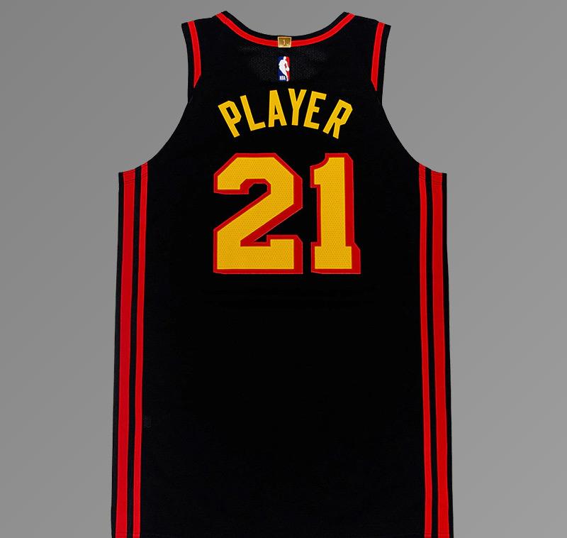 Atlanta Hawks 2021 Full Black Jersey Back
