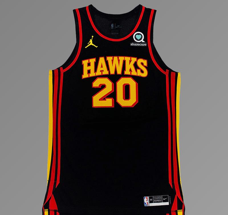 Atlanta Hawks 2021 Full Black Jersey Front