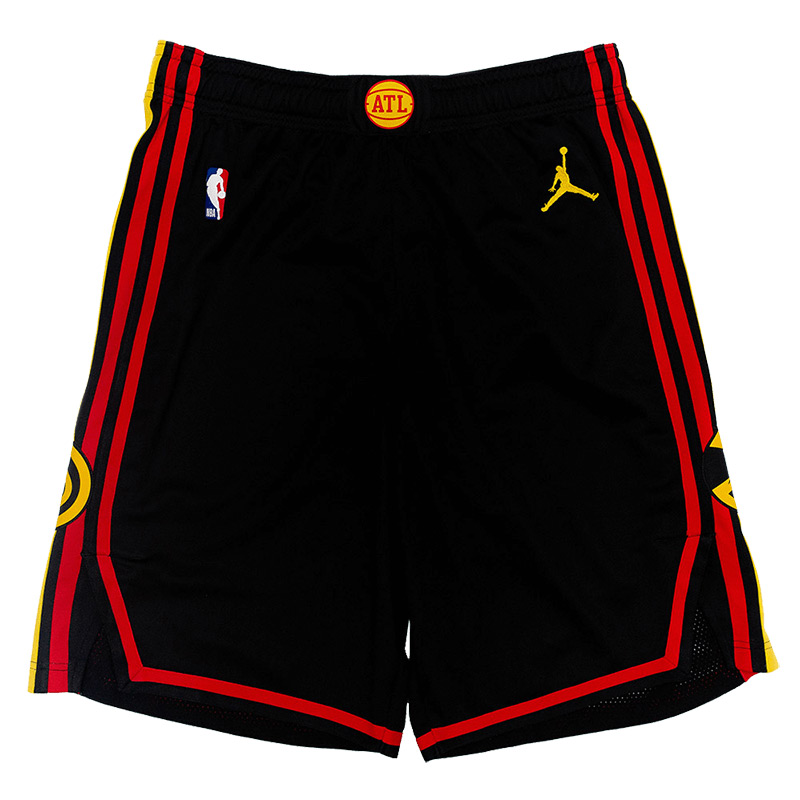 Atlanta Hawks 2021 Full Black Shorts