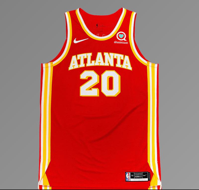 Atlanta Hawks 2021 Full Red Jersey Front