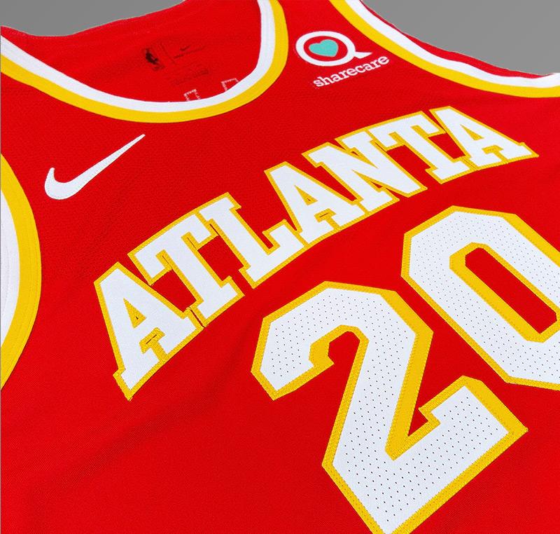 Atlanta Hawks 2021 Red Jersey Laying Flat