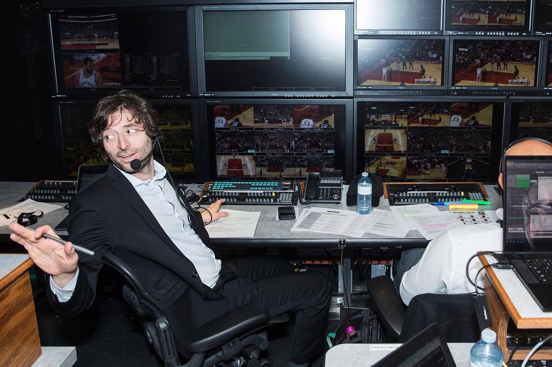 Award winning producer dan gladman in the truck helping deliver toronto raptors first nba finals games to millions of canadian basketball fans