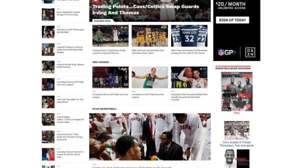 Basketballbuzz Ca New Modern Website