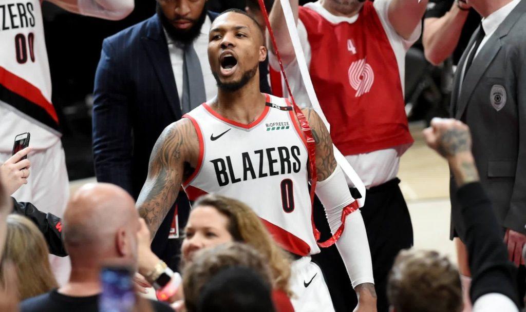 Blazers Damian Lillard April 24 2019