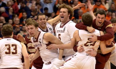 Boston College Eagles & Canadian Olivier Hanlan Knock-off Unbeaten No. 1 Syracuse Orange In Overtime