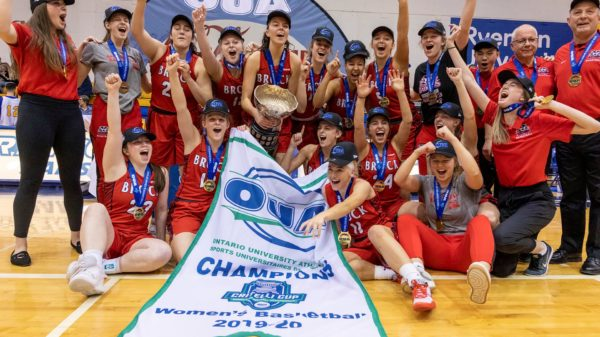 brock university women oua champs
