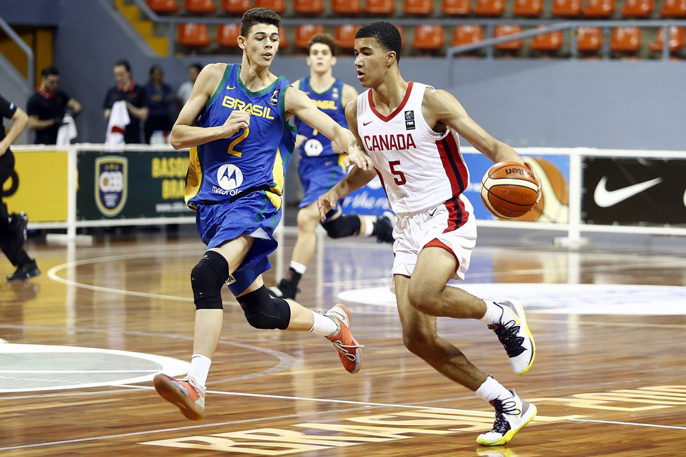 Caleb Houstan double-double too much for Brazil at U16 FIBA Americas