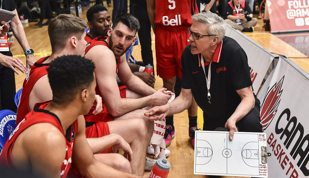 Canada Basketball Associate Head Coach Gordie Herbert Providing Instructions