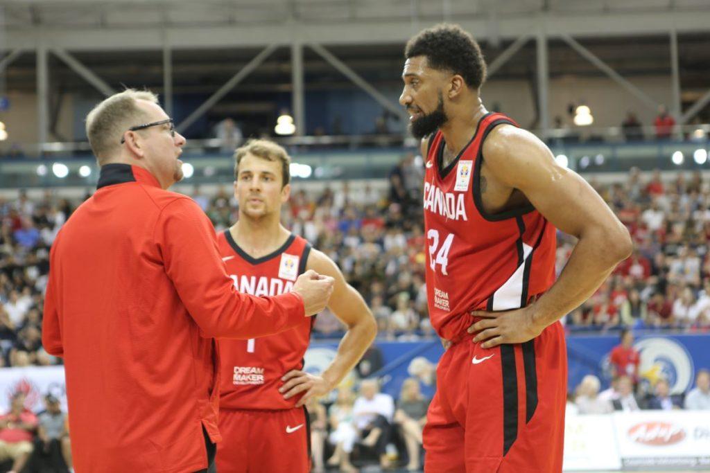 Canada Basketball Head Coach Nick Nurse Talks To Khem Birch And Kevin Pangos
