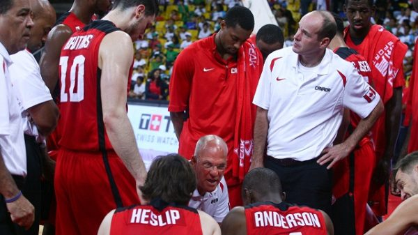 Canada Basketball Men's National Team. Dave Smart, Jay Triano, Brady Heslip, Jermaine Anderson