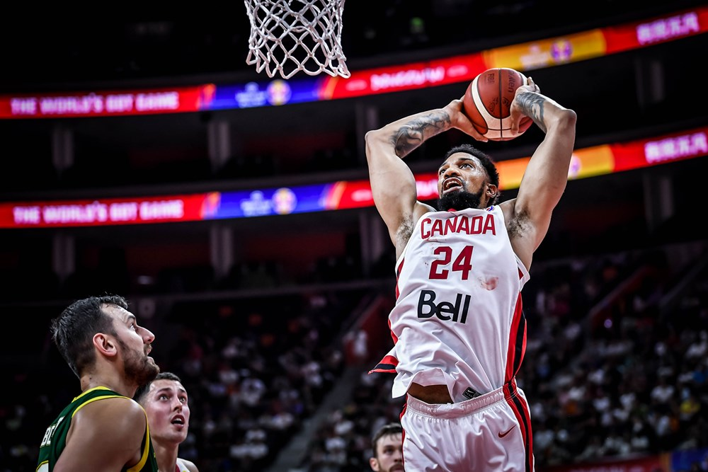 Canadas Khem Birch Thunderous Dunk Australia Too Much For Canada In 2019 Fiba World Cup
