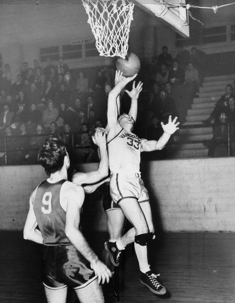 Canadian basketball 1940s norm baker vancouver hornets