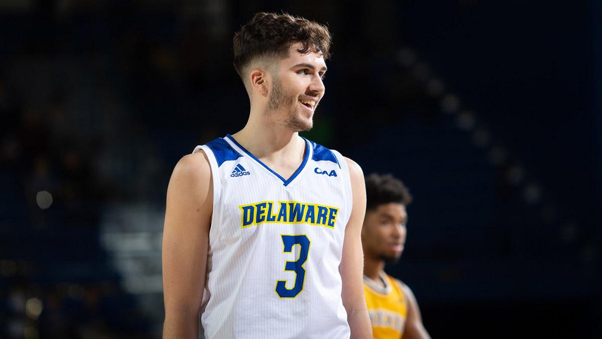 Canadian Basketball Player Nate Darling Delaware Blue Hens Smiling