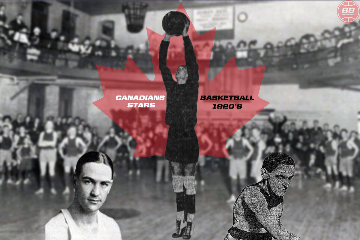 Canadian Basketball Stars Of The 1920s - (Left to Right) Frank Sibley II, Victor Till and Arthur Roy Boosey