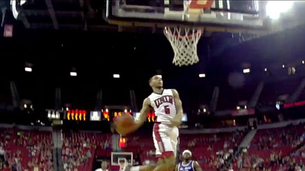 Canadian Guard Jalen Poyser Windmill Dunk Unlv Rebels Basketball