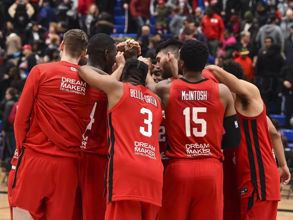Canadian Senior Mens Basketball Team Huddle Fiba Americup 2022 Qualifiers