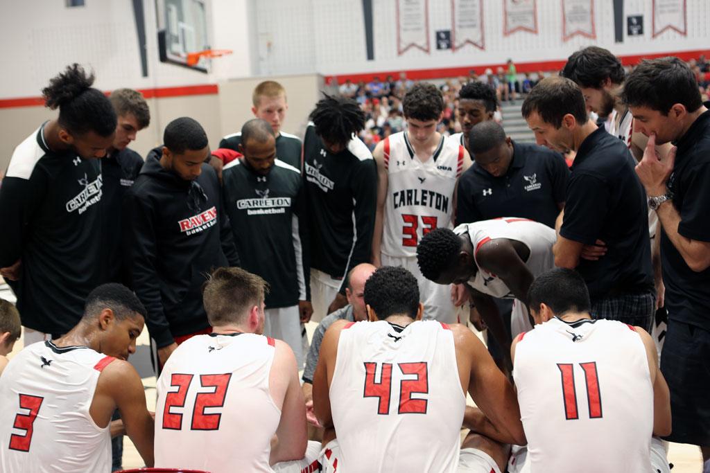 Carleton Ravens Basketball Bench Versus Cincinnati Bearcats