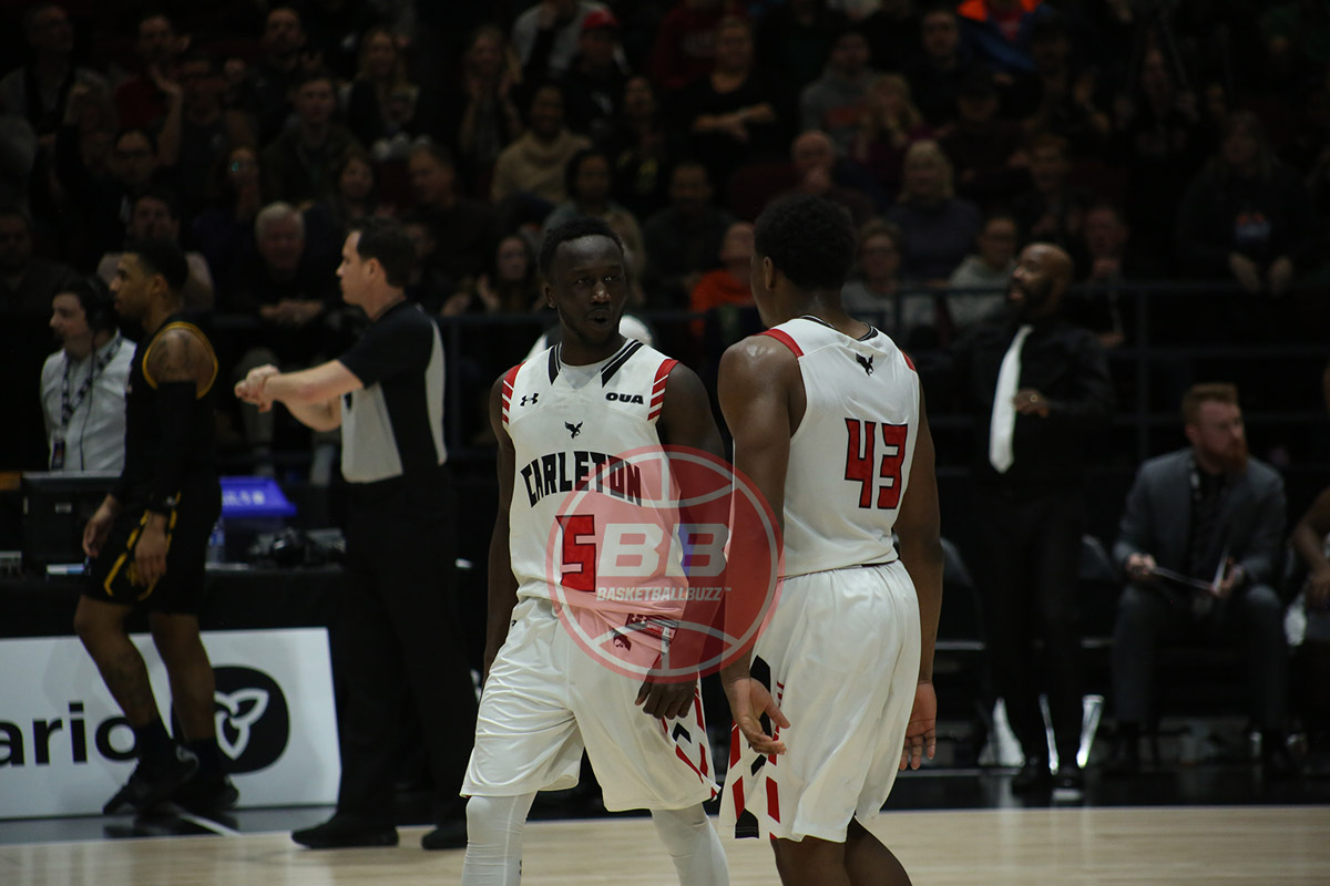 carleton ravens munis tutu and alain louis 2020 uports men basketball final 8