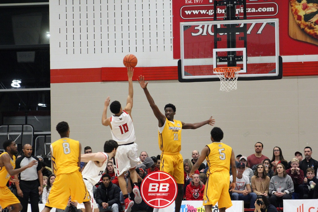 Carleton Ravens Reclaim Oua Basketball Supremacy Yasiin Joseph Floater Over Tanor Ngom Ryerson Rams