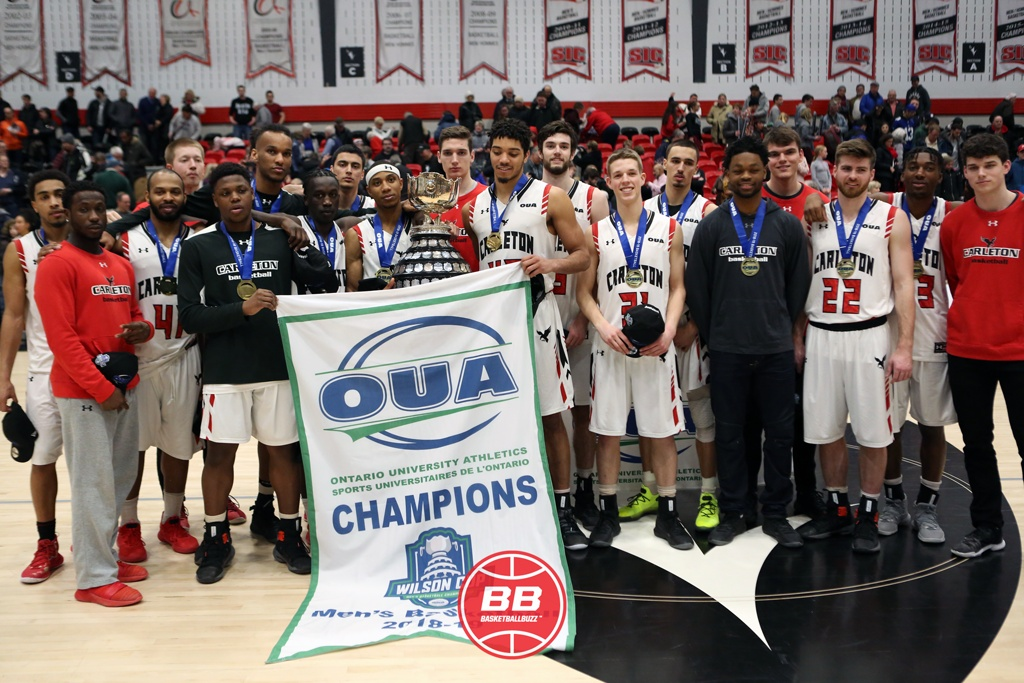 Carleton Ravens Reclaim Oua Basketball Supremacy Team Championship Banner