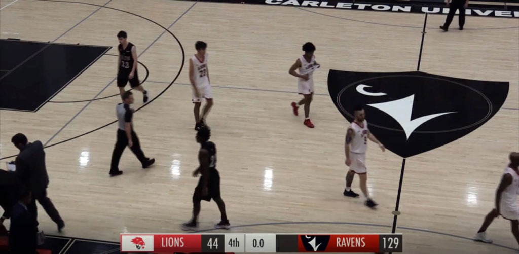 carleton ravens set u sports basketball records in 129 44 85 point beat down of york lions
