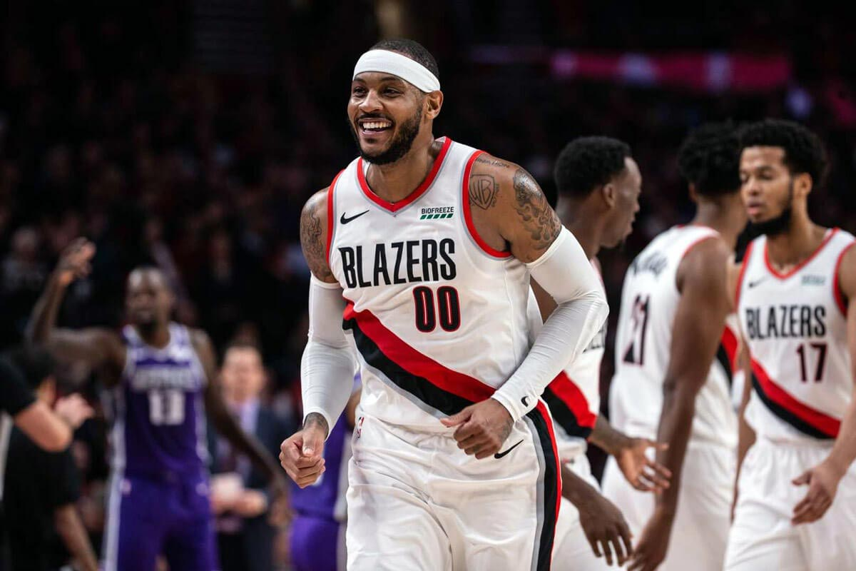 carmelo anthony signs guarantee contract with portland trail blazers
