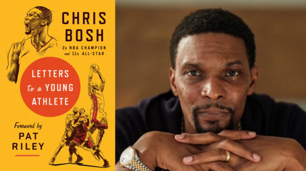 Chris bosh signs seals and delivers autobiography book letters to a young athlete