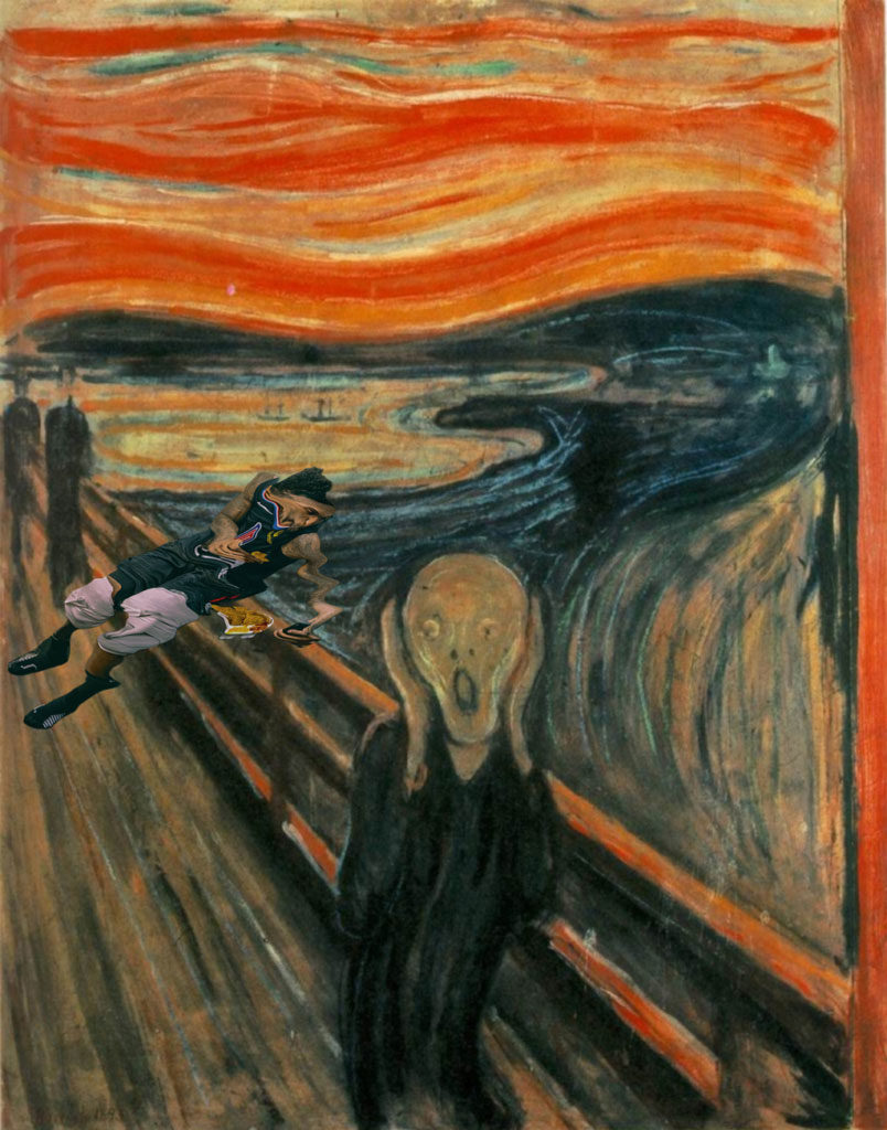 Clippers Nacho Eating Lou Williams Collection Edvard Munch The Scream