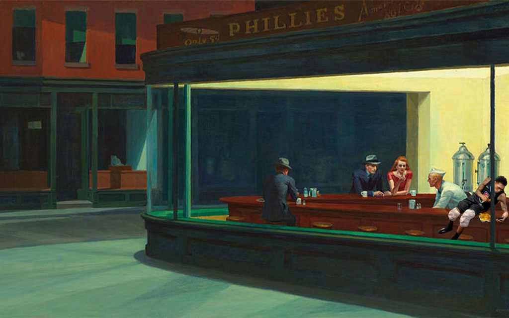 Clippers Nacho Eating Lou Williams Collection Edward Hopper Nighthawks
