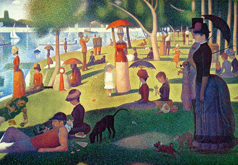 Clippers Nacho Eating Lou Williams Sunday Afternoon Island La Grande Jatte